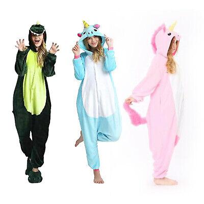 Unisex Pajamas Kids Adults Animal Unicorn Cosplay Sleepwear Costumes Jumpsuit