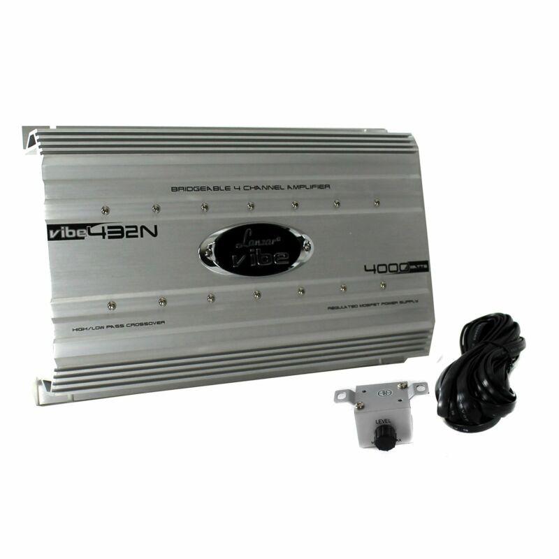 Lanzar 4000 Watt 4 Channel Bridgeable Car Audio Full Stereo Amplifier w/ Remote