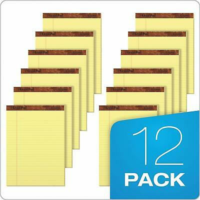 TOPS Legal Pad Writing Pads 8-1/2 X 11-3/4 Canary Paper Legal Rule 12 -