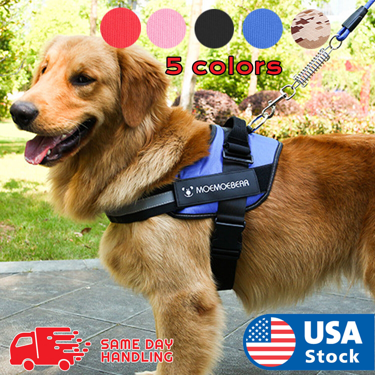 Dog Harness walk No Pull Vest tactical Heavy Duty K9 Handle