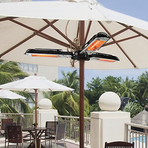 Parasol Patio Heater High Quality Tri Triple Electric Patio Heater ...
