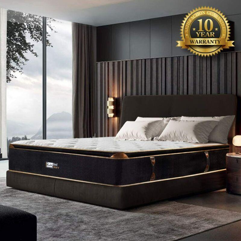 BedStory 12 Inch Cooling Gel Memory Foam Pocket Sprung Hybrid Mattress Bed FXL