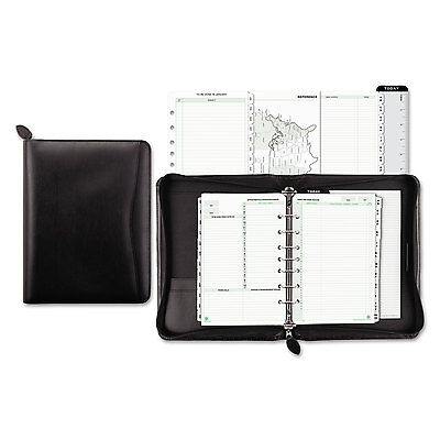 Day-Timer Recycled Bonded Leather Starter Set 5 1/2 x 8 1/2 Black Cover 41745 Recycled Starter Set
