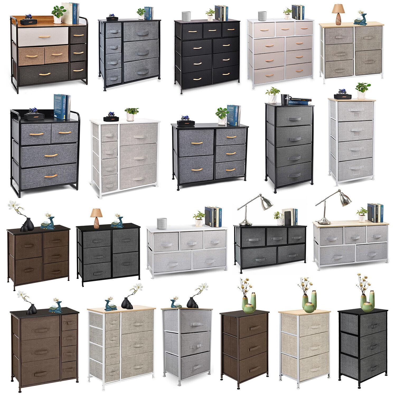 11 Drawer Fabric Dresser Storage Tower, Organizer Unit, Bedroom