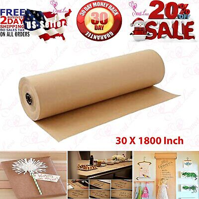 30 X 1800 Brown Kraft Paper Roll Shipping Wrapping Cushioning Void Fill