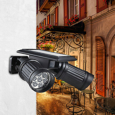 14LED Solar Spotlight Wall Light PIR Motion Sensor Lamp Path Garden Yard Outdoor