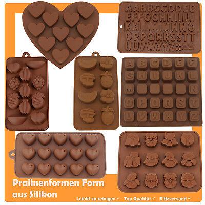 Silikonform Pralinenform Schokoladenform Backform Buchstaben Set Eiswürfel