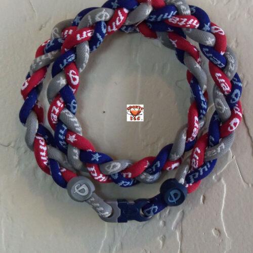 Phiten Triple Braid - New Navy/Gray/Red -Custom New