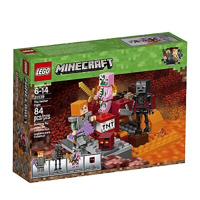 LEGO Minecraft 21139 The Nether Fight Game Set Clearance For Boys 6-12 Girls ](Zombie Toys For Boys)