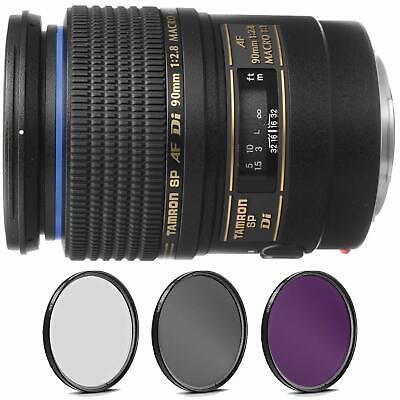Tamron SP 90mm f/2.8 Di Macro Autofocus Lens for Canon EOS +Pro Filter