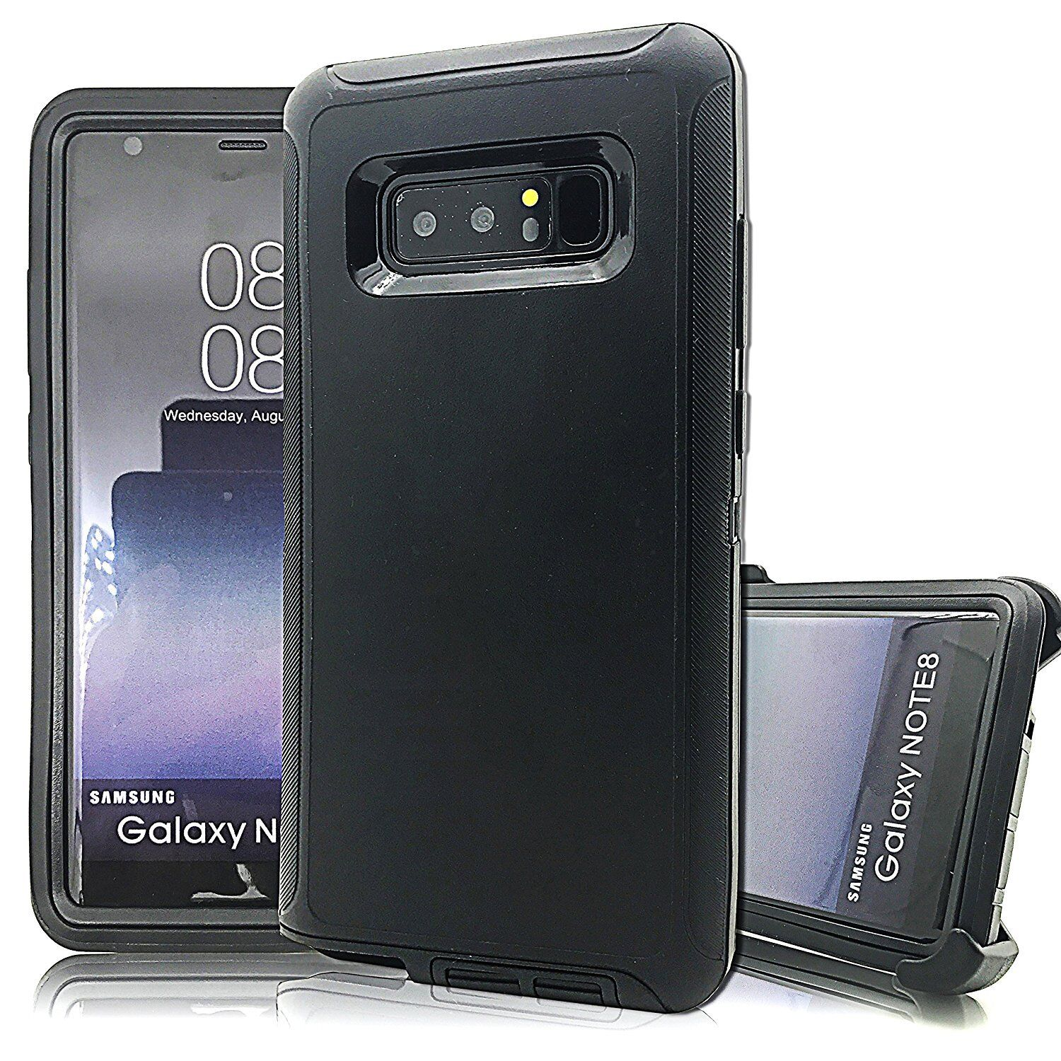 For Samsung Galaxy NOTE 8 Defender Impact Rugged Case Cover Clip Fit Otterbox BK
