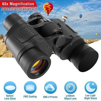 60x60 Zoom HD Lens Binoculars Day/Night Vision Outdoor Hunting Telescope+Case