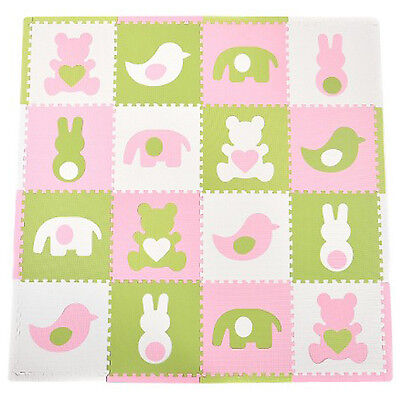 Baby Foam Floor Play Mat Puzzle Toy 16 Tiles Kids Toddler Activity Gym Play Area