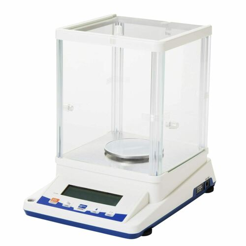 1mg Analytical Balance Precision Lab Balance with Glass Chamber, 100x0.001g