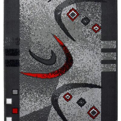 Modern Günstiger Billiger Läufer, Teppichläufer, Grau Rot 70 cm,80 cm, 90cm  ()