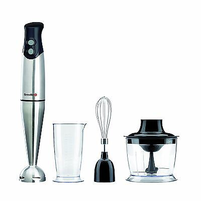Breville 3-in-1 Hand Blender Food Mixer Set Processor Chopper Whisk 400W, VHB014