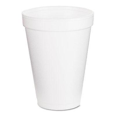 Dart Foam Drink Cups 12oz White 25/Bag 40 Bags/Carton 12J12