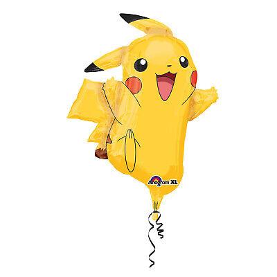Folieballon Heliumballon Pokemon Pikachu 78cm ungefüllt neu Kinder Party Motto