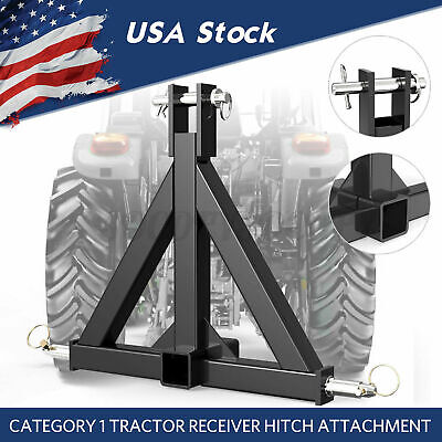 3 Point 2 Receiver Trailer Category 1 Tractor Tow Drawbar Sleeve Hitch Adapter
