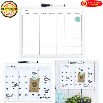 Monthly Wall Calendar Planner Magnetic Dry Erase Board 14x11 For Home Or Office