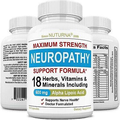 Suplemento De Apoyo Para Neuropatia - Apoyo Nervioso Con 600 Mg Acido Alfa L...