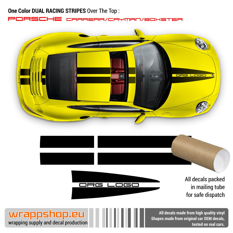 Dual Racing Stripes Over The Top For Porsche Ebay