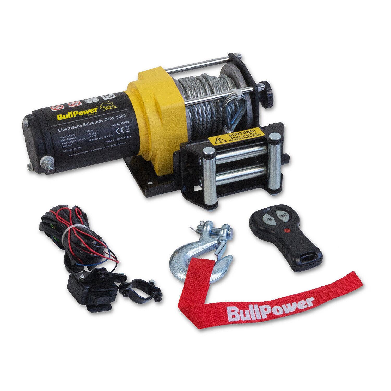 Elektrische Funk Seilwinde ATV Quad Elektrowinde Motorwinde 12V 3000lbs - 1361kg