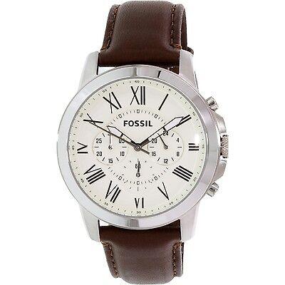 Fossil Men's Grant FS4735 Brown Leather Quartz Fashion Watch