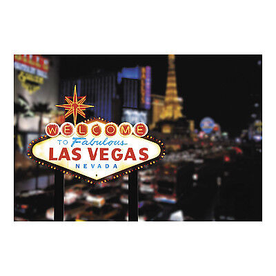 Vegas Party Props (Las Vegas Strip Backdrop Photo Prop Wall Mural CASINO PARTY POKER NIGHT)