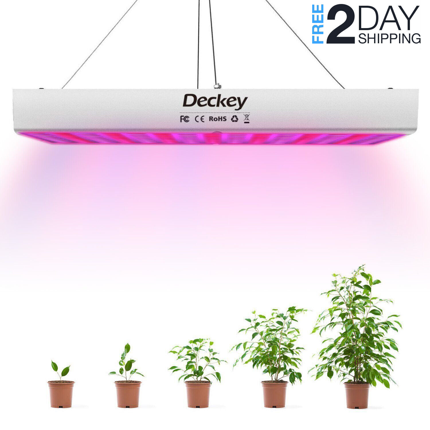 New LED Grow Light 225LED UV IR Growing Lamp for Indoor Plants Hydroponic Plant Deckey 4316270677 for 24.99.