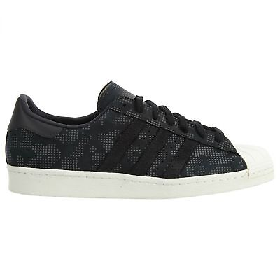 Adidas Superstar 80's Braille Camo Mens B33840 Black Shell Toe Shoes Size 9