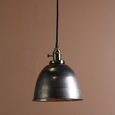 Permo 1-Light Cord-Hung Pendant Light with Metal Dome Shade Varnish Finished 1 Light Cord Pendant