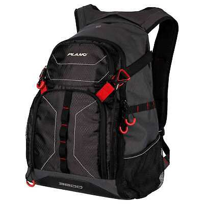 PLANO E Series 3600 Tackle Bag Backpack - Includes (3) 3600 Boxes - Black Color