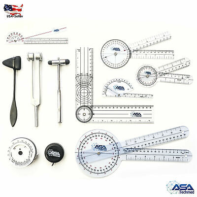 Goniometer Physical Therapy Complete Set Wbonus Reflex Hammer Including 1286