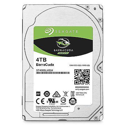 "4TB  2.5"" Seagate  BarraCuda Hard Drive 128MB Cache SATA 6.0Gb/s ST4000LM024"