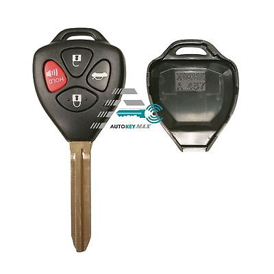 Replacement for 2007-2010 Toyota Camry Sedan Remote Car Key Fob Shell Case