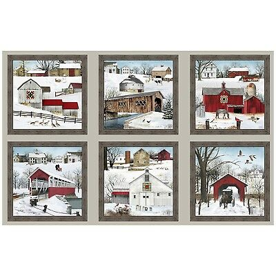 "23"" Fabric Panel - Elizabeth's Studio Headin' Home Christmas"