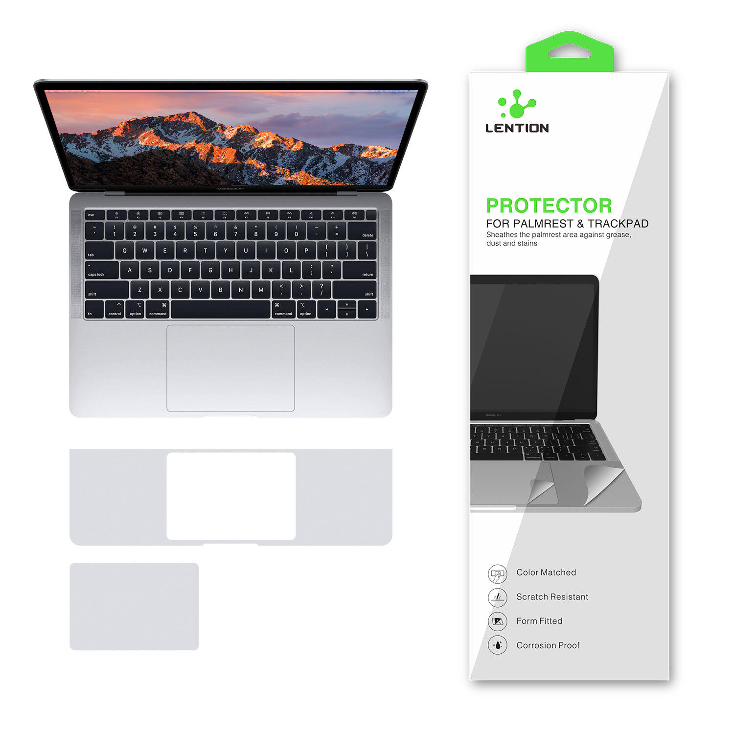 LENTION Palm Rest Trackpad GuardCover Skin for 2018-2019 M