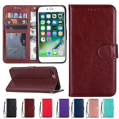 For iPhone XS Max XR 7 8 6 Plus Card Holder Wallet Flip Leather Case Retro Cover