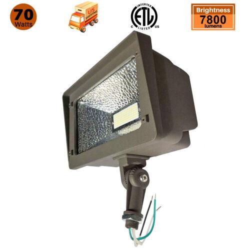 70W 120V Knuckle Mount LED Outdoor Security Flood Light Fixt