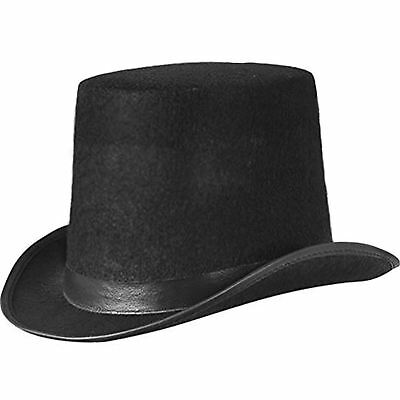 Old English Black Gents Top Hat James Delaney Fancy Dress Taboo Hat - Old English Kostüm