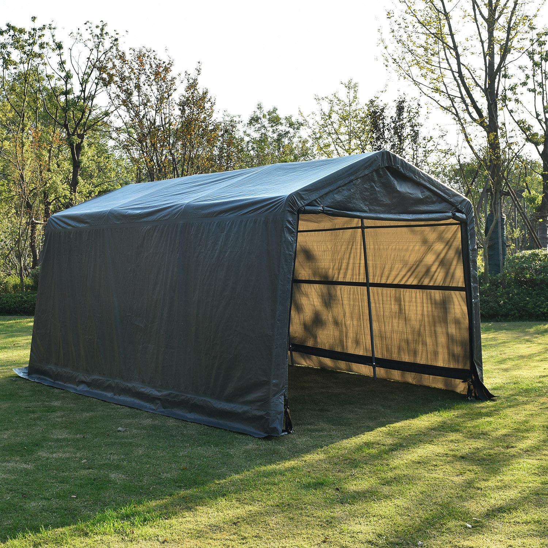 10/15Ft Outdoor Carport Canopy Portable Shelter Garage Steel