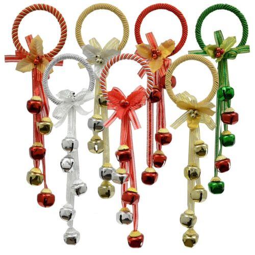 Christmas Door Knob Hanger Jingle Bells Holiday Decor New