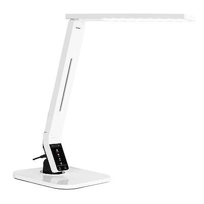 LED STEHLEUCHTE TISCHLEUCHTE SCHREIBTISCHLAMPE NACHTTISCHLAMPE LAMPE WEISS USB