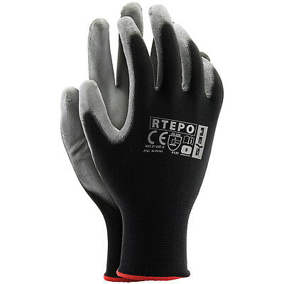 Arbeitshandschuhe SPAR-PAKET 24 PAAR Montagehandschuhe Handschuhe PU Gr. 7-10 24