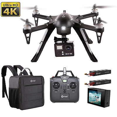Contixo F17+ Quadcopter Photography Drone 4K Camera Carrying Bag Two Batteries