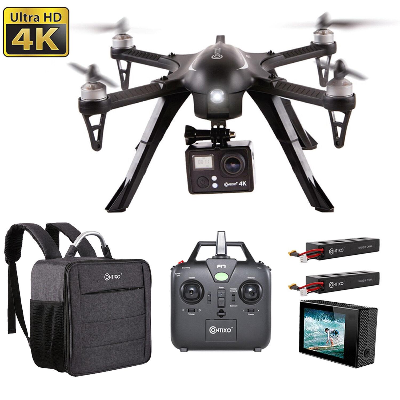Contixo F17 RC Remote Control Quadcopter Drone 4K WiFi Camera Storage Backpack