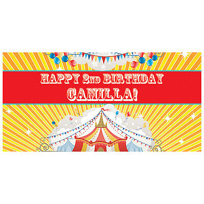 Personalized Photo Backdrop (Big Top Circus Carnival Party Photo Backdrop, Personalized Circus Party)
