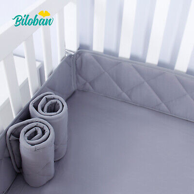 Mini Crib Bumper Pads for Boys Portable Crib Liners Padding 24