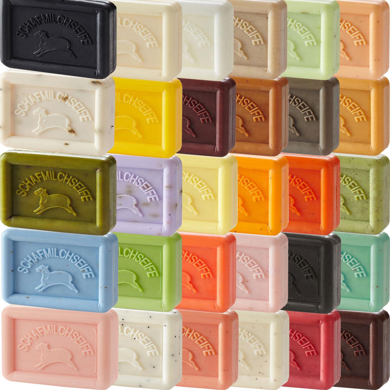 Schafmilchseife von Ovis Eckig natürliche Seifen in 42 Duftvarianten 100g/3,30€